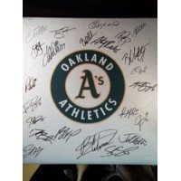 Signed Athletics, Oakland (2012 A's) Replica Base by the 2012 Oakland Athletics Team autographed