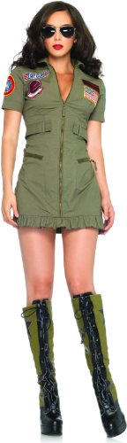 Top Gun Women's Flight Dress Costume - Small - Dress Size 4-6