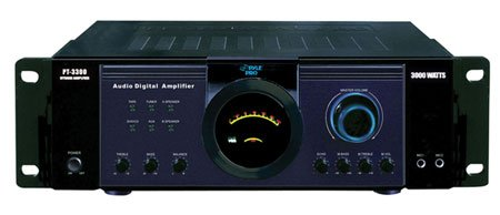 Rack Mount 300W X 2Ch Professional Pa Amplifier With Headphones