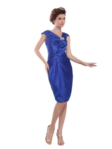 31YTxHcFBDL Amazon: Topwedding Elastic Satin V Neck Party Dress with Beads