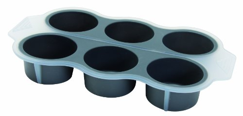 Quid 1800025 Moule 6 Muffins Amandine My Club Sweet Silicone Noir / Transparent