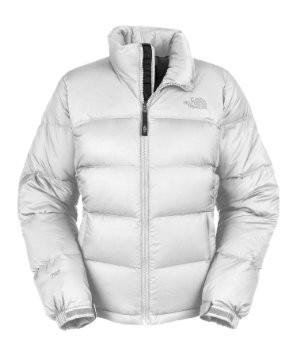 Piumino Donna The North Face - W Nuptse Jacket White Medium