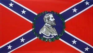 国旗 アメリカ連合国 リー将軍肖像旗 90×150cm