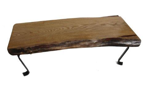 Sustainably Harvested Live Edge / Natural Edge Slab Sassafras Wood Coffee Table / Bench