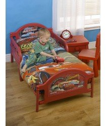 Character World Disney Cars Childs Junior / Toddler Bed with Foam Mattress