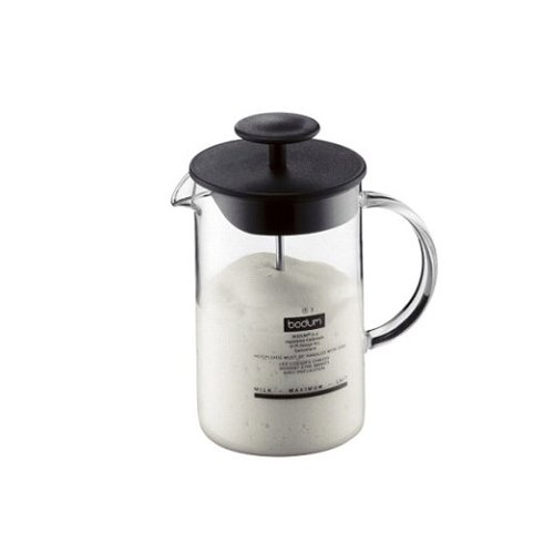 bodum-latteo-milk-frother-glass-handle-heat-resistant-025-l-8-oz-black