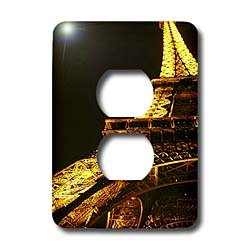Vacation Spots - Eiffel Tower - Light Switch Covers - 2 plug outlet cover