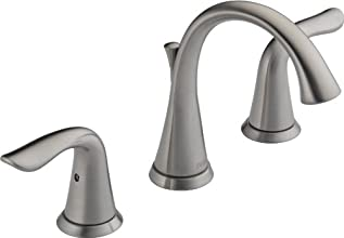 Delta 3538-SSMPU-DST Lahara Two Handle Widespread Lavatory Faucet, Stainless