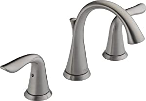 Delta 3538 Ss Lahara Two Handle Widespread Lavatory Faucet