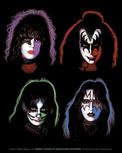 Kiss Rock Music Band Decal Sticker - Individual Band Member Portraits