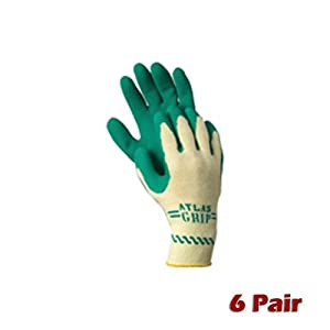 Atlas 310 Grip Extra Small Nylon Work Gardening Gloves 6 Pair