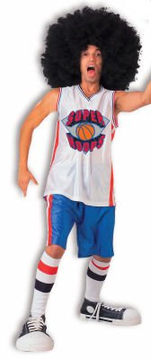 Adult Super Hoops Costume - Wow includes Wig, Costume Sneakers & Inflatable Ball Too!