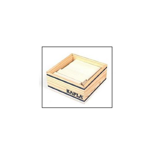 KAPLA C40 BL Holzplättchen, 40 Steine, weiß