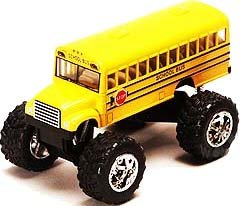 "Monster School Bus: Die Cast Yellow School Bus Large 5"" Long with Monster Wheels! by International"