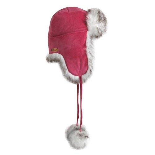Fu-r Headwear Women's Faux Fur Maggie Trapper Hat, Pink, One Size