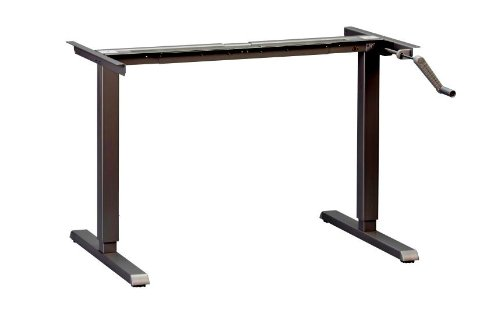 MultiTable ModTable Adjustable Height Standing Desk with Manual Base, Black