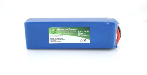 Bioenno Power Lightweight 30C, 14.8V, 5000 mAh LiPo Battery for RC Models