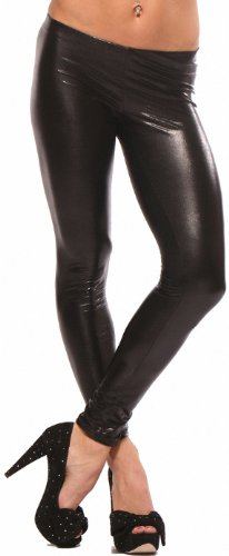 "LATEX METALLIC LEGGINGS WET LOOK PUNK LEGGINGS SHINY FAUX LIQUID "" LEATHER "" CELEB PANTS, X SMALL, BLACK"