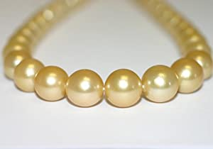 Rose Golden South Sea Pearl Necklace