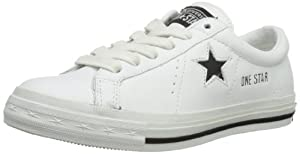 Converse Unisex-Adult Premiere OS OX Tennis Shoes 113583 White/Black 9.5 UK