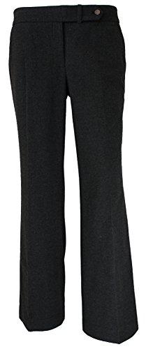 Calvin Klein Women's Classic Fit Dress Pants Heather Charcoa