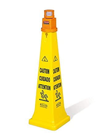 Rubbermaid Commercial Products FG628700YEL Yellow Safety Cone Barricade System