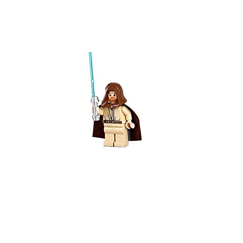 Lego Star Wars Obi-Wan Kenobi Minifigure with Lightsaber (Headset Version)