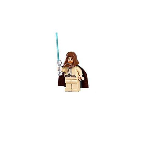 Lego Star Wars Obi-Wan Kenobi Minifigure with Lightsaber (Headset Version)