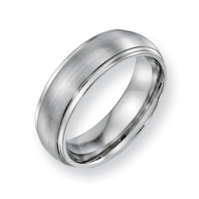 Cobalt Chromium Satin Polish 7mm Band Ring - Size 10.5 - JewelryWeb