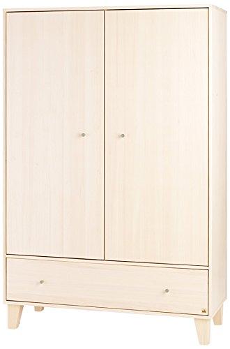 Pinolino-141689-Kleiderschrank-Charles-Massiv-Fichte-cremewei-lasiert
