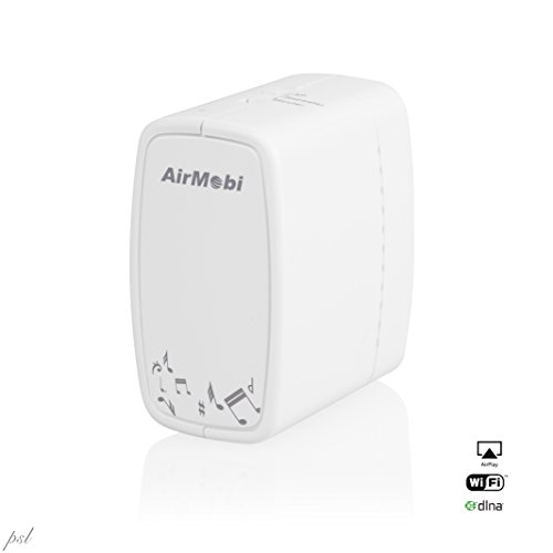 Airmobi Iplay2 300Mbps Wireless Wi-Fi N Airplay/Dlna Audio Receiver & Ap/Repeater/Range Extender W/File Sharing Usb Port - Wirelessly Stream Stereo Music To Home Speaker System & Share Media Over Wi-Fi Network From Any Smartphone, Tablet Or Notebook - Dln