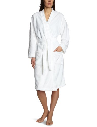 Tommy Hilfiger Damen Bademantel Bella Fluffy Bathrobe / 1487902286, Gr. 42 (XL), Weiß (100 Classic White)
