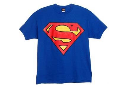 31YWRCXPVHL Superman Symbol Logo Mens Blue T shirt