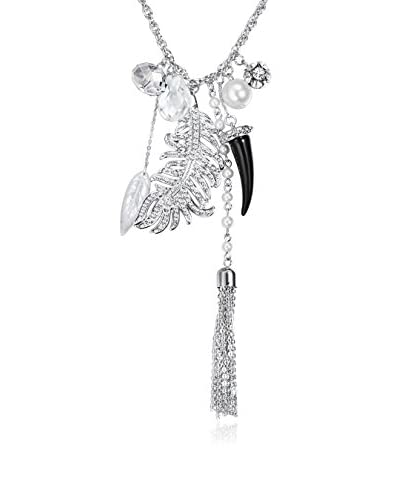 Saint Francis Crystals Collar  Plateado