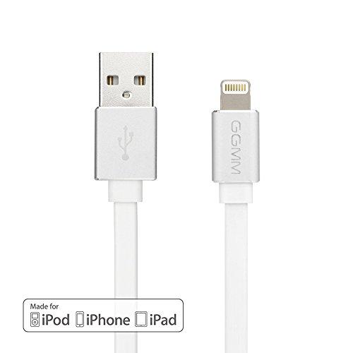 [Apple MFI Certificato]Cavo Lightning USB Caricabatterie, GGMM ® Cavi USB di ricarica ultra compatta Syncwire Cavo - Cavo Dati piatti 3.3ft sostenibili. / 1M iPhone 6S Plus SE 7 7 6 6 Plus 5S 5C 5, iPad Air 2, 3 mini, iPod e iPod nano 5 7, etc.