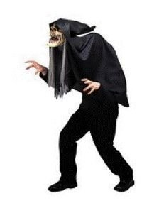 Grim Reaper Hunchback Mask Adult Halloween Accessory