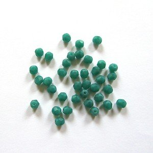 Pretty Pebbles Beads - 50 Fire Polished Czech Glass Faceted Beads