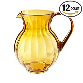 GET Amber Polycarbonate Plastic 90 Oz. Tahiti Pitcher [Box of 12]