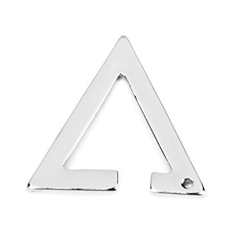 Tappo in lega, a forma di triangolo per orecchino a Clip in argento