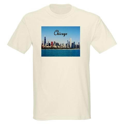 Chicago Chicago skyline Light T-Shirt by CafePress
