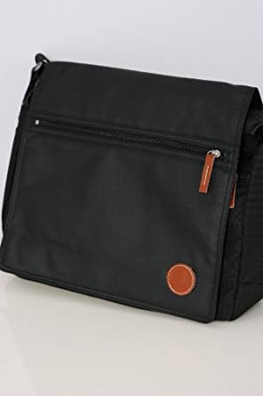 Fred Perry Black Coated Nylon Shoulder Bag 88