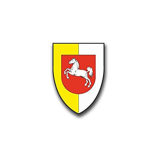 Aufkleber / Sticker - 1 PzDiv Sticker Aufkleber Panzer Division Heer Soldaten Hannover Wappen Abzeichen Emblem Bundeswehr passend für Opel Astra VW Golf GTI 5x7cm #A828