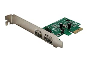 Syba 2 Port IEEE 1394A Firewire PCI-Express x1 Card with Shared Internal Header