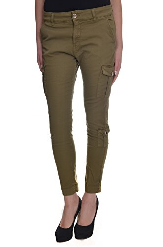 <p>TWIN-SET Pantalone tasconato donna, T2S4PA 437 verde scuro, skinny fit</p>