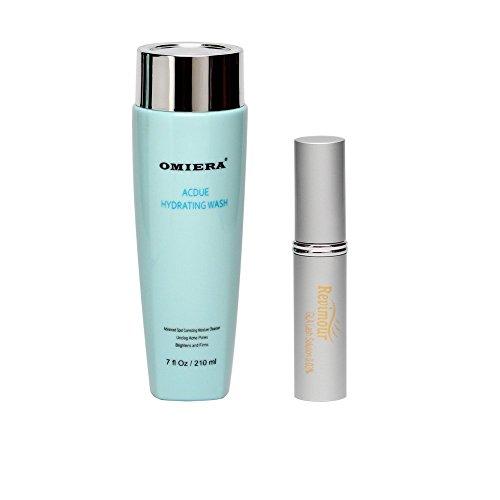 Acne Scars Treatment, Acne Treatment, Face Wash Acdue + Eyelash Growth Serum, Lash Growth, Eyelash Enhancer Revimour Anti Aging Products By Omiera Labs