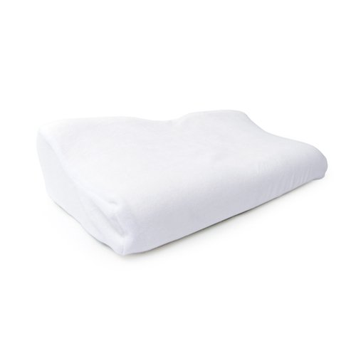 66Fit Physio Pillow - Memory Foam With Extra Cover - White, 34 X 54 X 12/6 cm