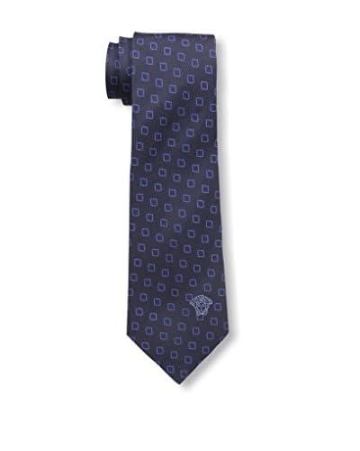 Versace Men's Printed Tie, Blue