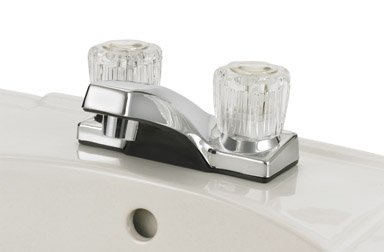 Ace Trading Worldwide 4224cp Non metallic Lavatory Faucet Two Handle Chrome with Pop up