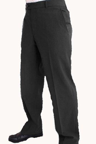 Douglas Pinstripe Novonic suit Trouser 48inch Waist 31inch, Charcoal (08)