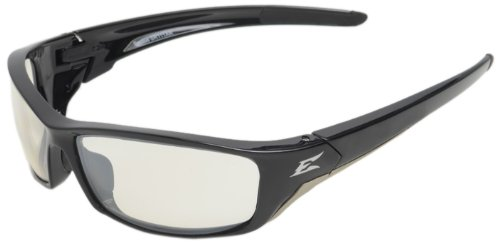 Edge Eyewear SR111AR Reclus Safety Glasses, Black with Clear Anti Reflective Lens